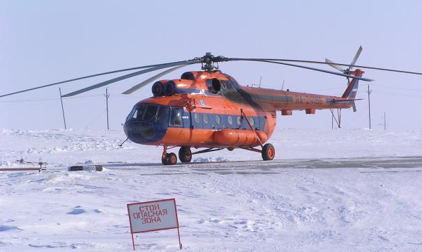 В Сабетте вертолет совершил жесткую посадку