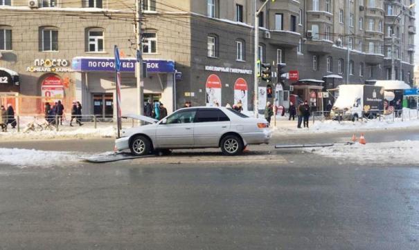 В центре Новосибирска произошло серьезное ДТП с пешеходами