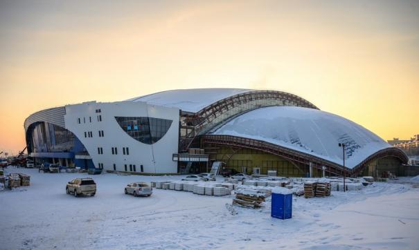 Площадь вновь строящегося ледового дворца «Байкал» более 57 тысяч квадратных метров