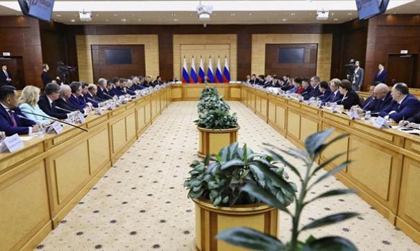 Владимир Путин провел совещание с кабинетом министров