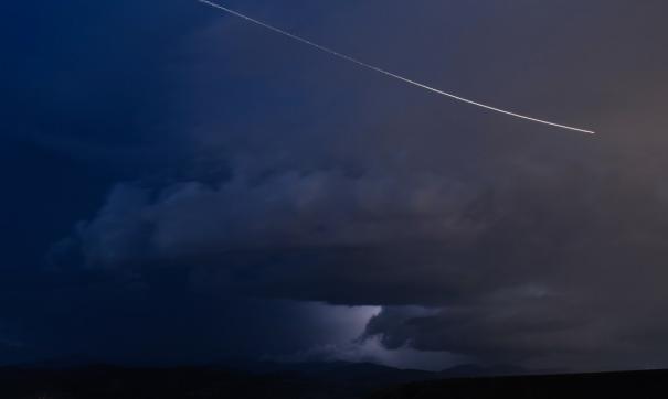 Над Уралом вспыхнул метеор