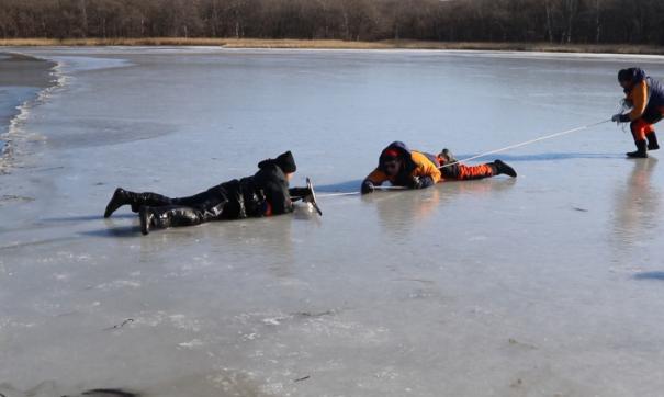 В Приморье с отколовшейся льдины спасли 16 человек