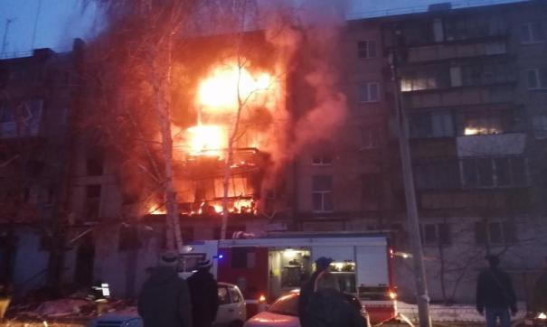 Огонь от пожара распространился на все пять этажей