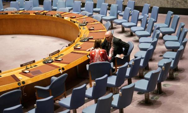 Пустой зал ООН