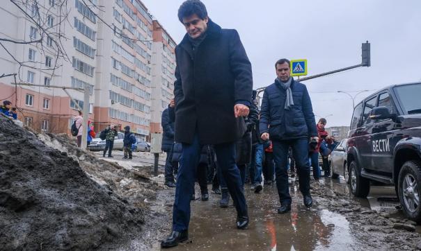 Александр Высокинский предложил штрафовать за сугробы
