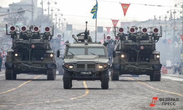 Первая репетиция парада Победы с военной техникой пройдет завтра в Екатеринбурге