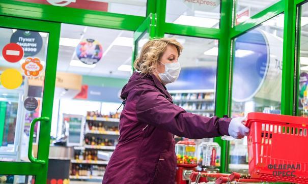 Покупателям без масок запрещают заходить в магазины