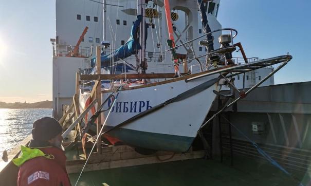 Яхта «Сибирь» возвращается в Россию