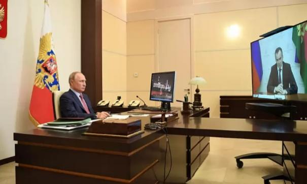 Владимир Путин и Вениамин Кондратьев