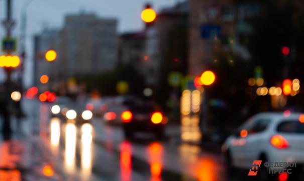 Поток автомобилей в вечернее время