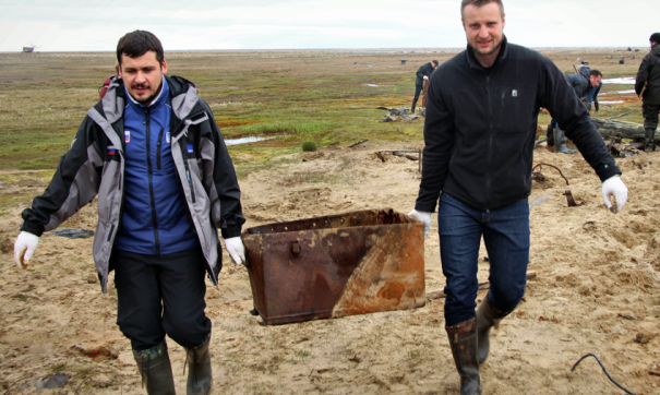 На Ямале очистят от мусора лежбище моржей