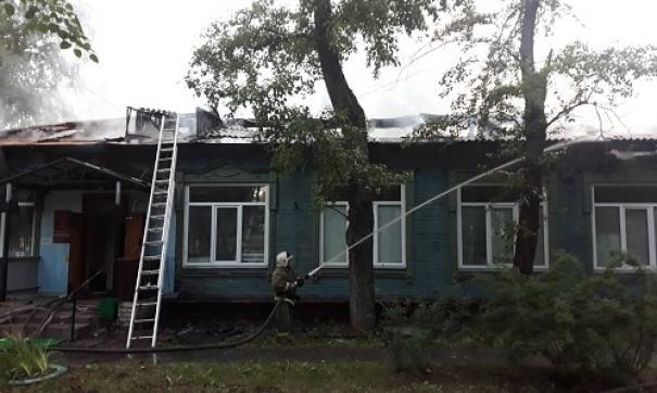 Пожар в поликлинике был ликвидирован в течение 2 часов