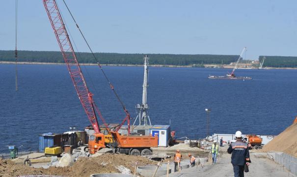 Строительство Волжского моста ведется одновременно с двух берегов