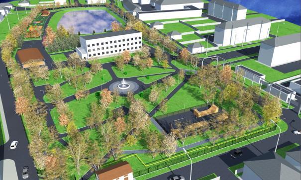 В парке Богородска будет фонтан и множество площадок
