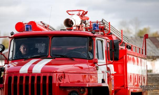 Пожар тушили 65 сотрудников МЧС