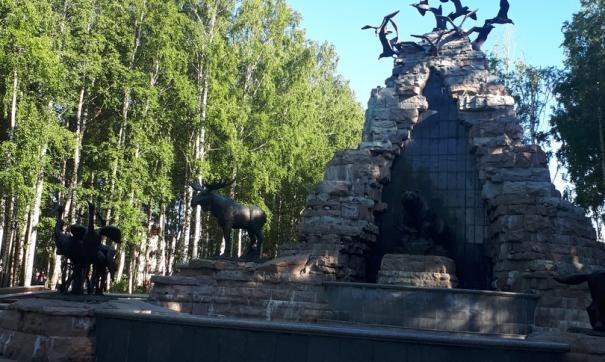В парке Ханты-Мансийске ребенок упал с фонтана и разбился