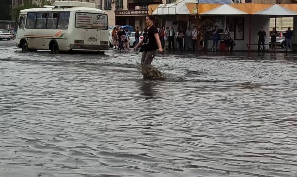 В Кургане представители власти объяснили, почему после крупного ливня город моментально затопило