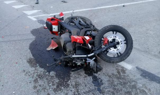 В Новосибирской области подростки-мотоциклисты попали в ДТП