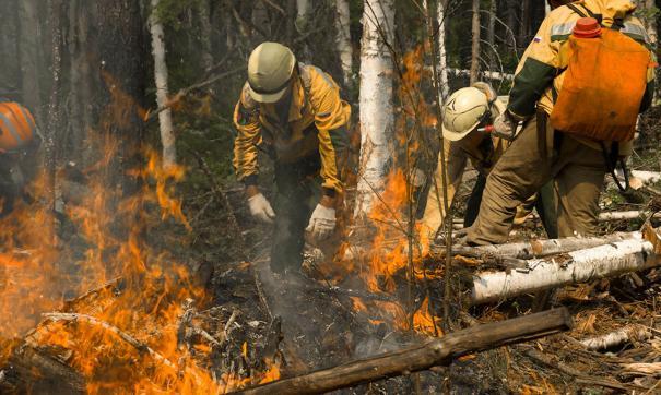 Лесоохрана продолжает тушить пожары в Иркутской области