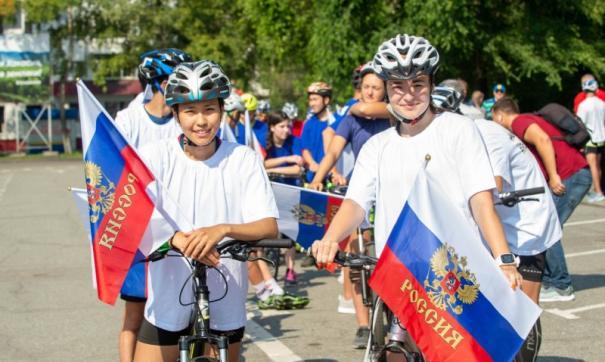 Велопробегом с флагами в руках абаканцы отметили историческое событие