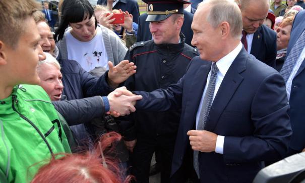 Владимир Путин на встрече с людьми
