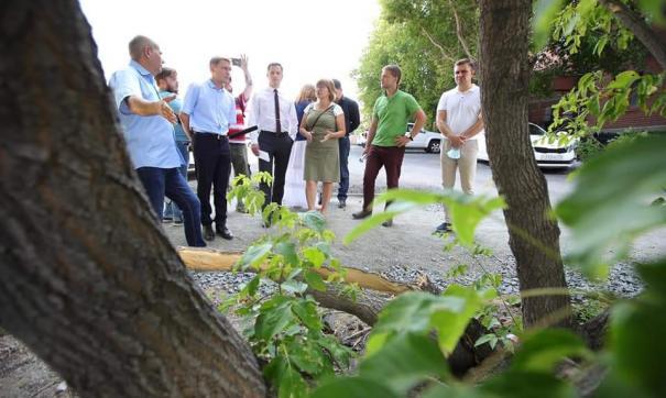 Сотрудники администрации вместе с экспертами провели совещание на месте вырубки