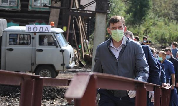 Евгений Куйвашев во второй раз посетил затопленные Нижние Серги