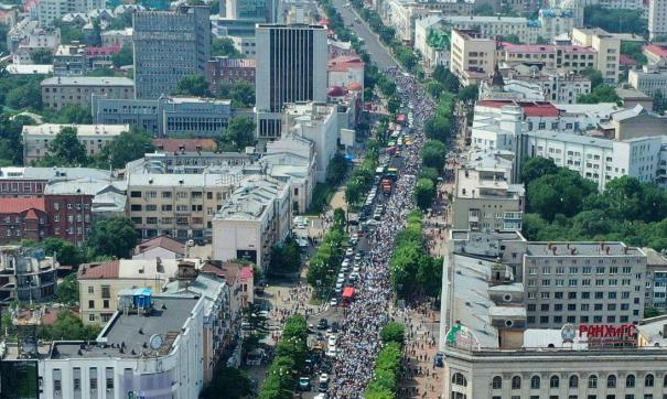 Жители Хабаровска провели очередной несанкционированный митинг