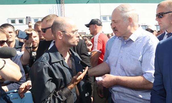Лукашенко с народом