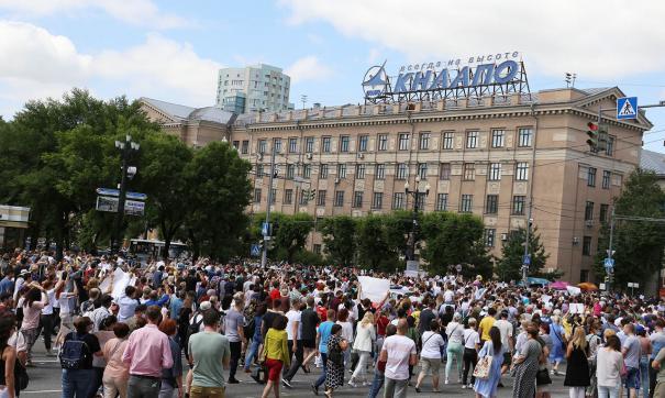 В Хабаровске продолжаются протесты