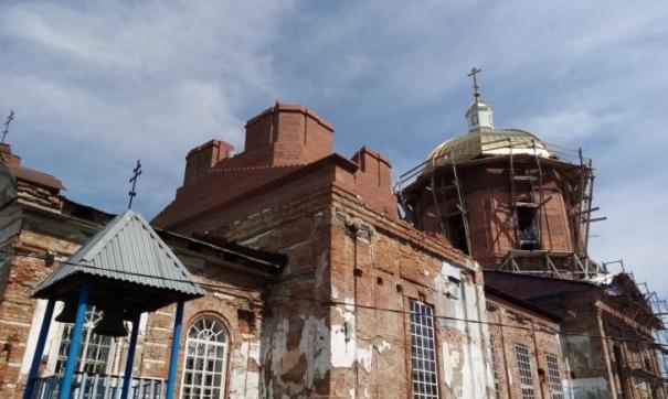 В Нижних Сергах на пострадавший от потопа храм установят крест