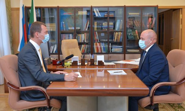 Глава Хабаровского края провел встречу с мэром краевой столицы