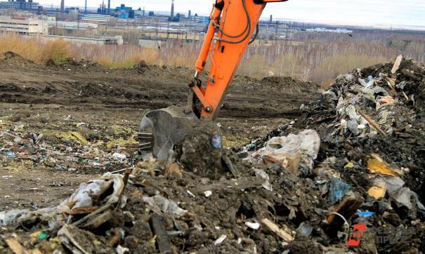 В Новосибирске горит свалка