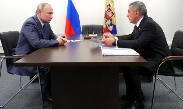 Владимир Путин встретиться с Рустамом Миннихановым