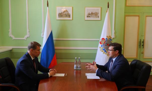 Глеб Никитин обсудил с Михаилом Мурашко ситуацию в регионе