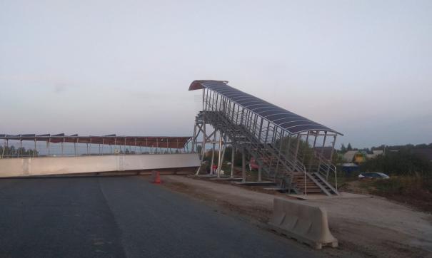 На федеральной трассе неподалеку от Кургана рухнул надземный мост