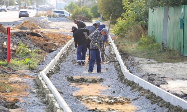 Работы ведутся от перекрестка Пожарского до остановки «41-я школа»