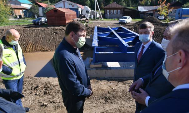 В пострадавших от потопа Нижних Сергах построили новый газопровод