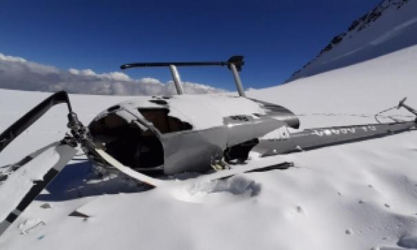 На Алтае жестко сел вертолет