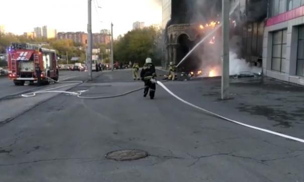Пожар в новосибирской гостинице локализовали за час