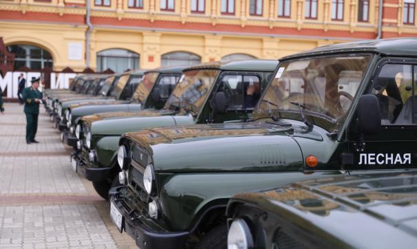 Автомобили повышенной проходимости передали службе лесоохраны