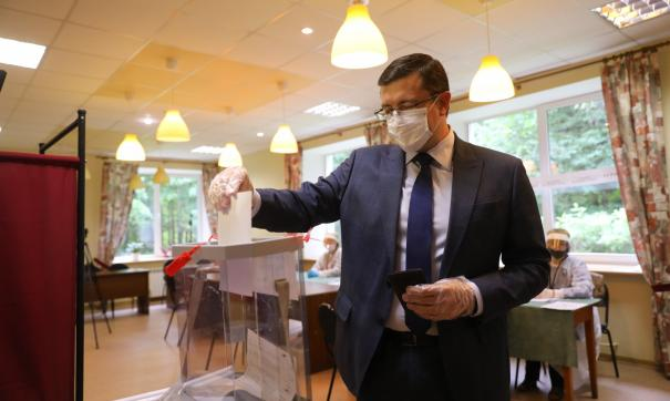 Глеб Никитин принял участие в выборах депутатов городской думы