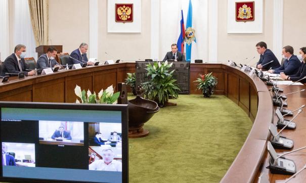 Губернатор отчитался перед зампредседателя правительства России