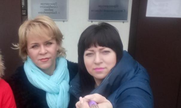 Ольга Прожерина (справа) будет баллотироваться по округу № 3