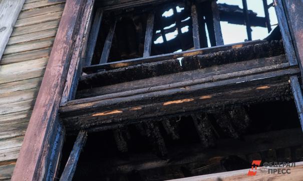 Пожар произошел в селе Лебяжий в ночь на 23 октября