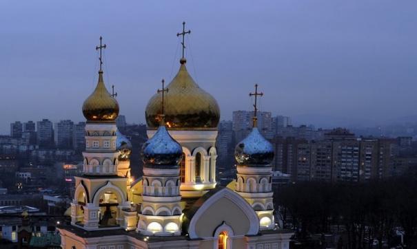 Спецназ провел учения в храме во Владивостоке
