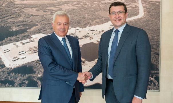Глеб Никитин и Вагит Алекперов встретились в Москве