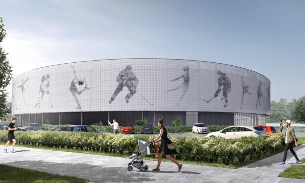 В Озерске возводят каркас будущей ледовой академии «Высота»
