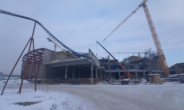 В Новосибирске начали строить четвертый этаж ледовой арены