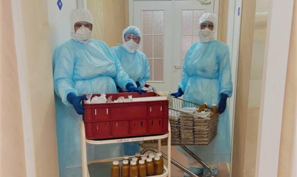Работники ковид-госпиталя
